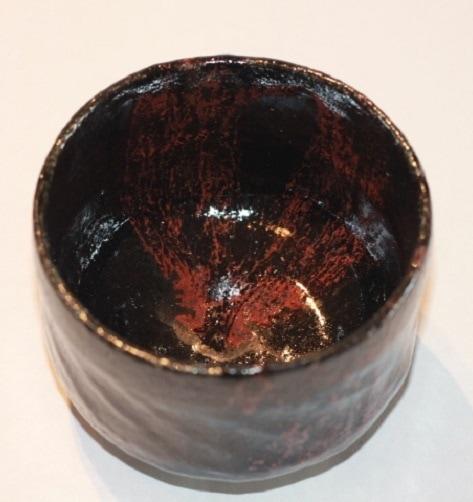 Rakuschale schwarz rot3
