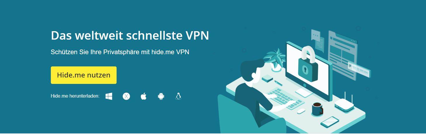 VPN Anbieter kostenlos Hidem.me